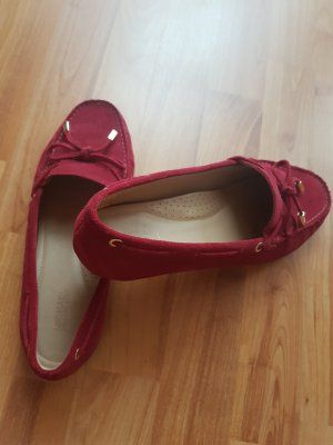 Michael Kors Slip-on Shoes dark red suede