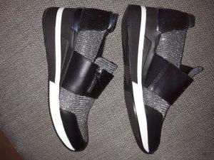 Michael Kors Heel Sneakers black-silver-colored