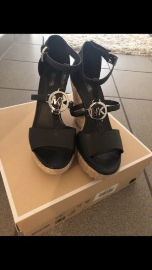 Michael Kors Heel Pantolettes black-silver-colored