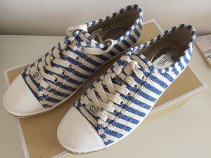 Michael Kors Schuhe 41 neu mit Karton Sneakers Espadrilles marine blau gestreift Lace Up