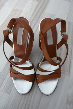Michael Kors Wedge Sandals cognac-coloured-silver-colored