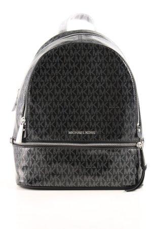 "Michael Kors Sac à dos collège ""Rhea Zip MD Backpack Black/Silver"""
