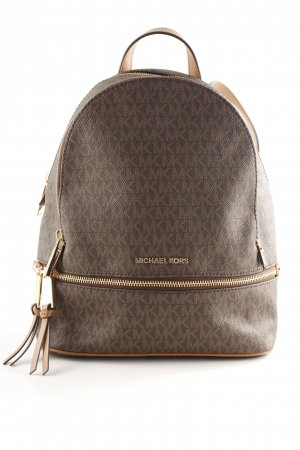 "Michael Kors Zaino per la scuola ""Rhea Zip MD Backpack Brown"""