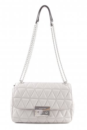Michael Kors Shoulder Bag light grey-silver-colored graphic pattern