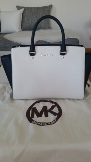 Michael Kors Carry Bag white-black synthetic material
