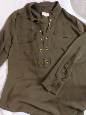 Michael Kors Silk Blouse khaki