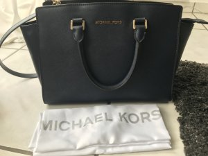 Michael Kors Carry Bag dark blue-cream leather