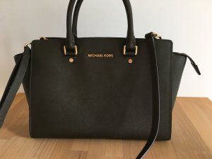 Michael Kors Carry Bag dark green leather