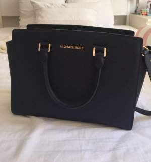 Michael Kors Carry Bag dark blue leather