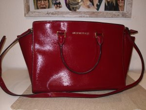 Michael Kors Selma Large Top Zip Satchel Patent Leder