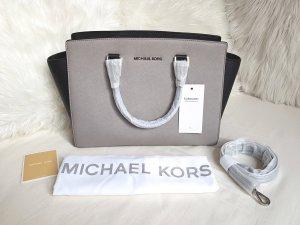 Michael Kors Selma LG Duo Color Schwarz/Pearl Grey Hellgrau ♥