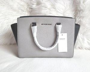 Michael Kors Selma LG Duo Color Schwarz/Pearl Grey Hellgrau Silber ♥