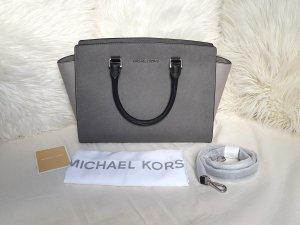 Michael Kors Selma LG Tricolor Schwarz/Pearl Grey/Slate Grey ♥