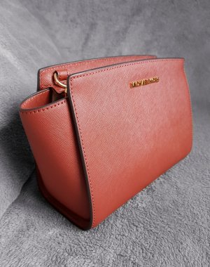 Michael Kors Selma MD Messenger Brick Rostrot Gold ♥