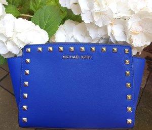 Michael Kors Selma MD Messenger Electric Blue Nieten Stud ♥