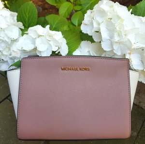 Michael Kors Selma MD Messenger Tricolor Dusty Rose Ecru Schwarz ♥