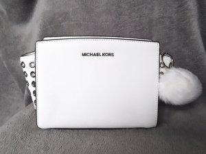 Michael Kors Sac bandoulière blanc-argenté cuir