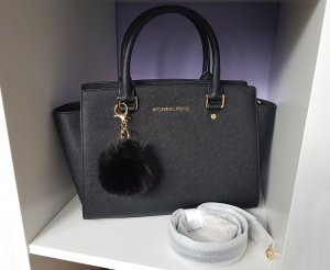 Michael Kors Selma Medium Schwarz +Pom ♥