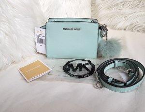 Michael Kors Selma Mini Messenger Celadon Silber + Pom