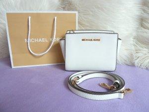 Michael Kors Borsa a spalla bianco-oro Pelle