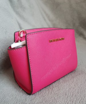 Michael Kors Selma Mini Messenger Ultra Pink