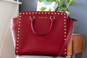Michael Kors Selma NS Tote Red