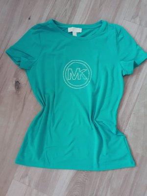 Michael Kors Shirt T-Shirt Gr. M Blaugrün / Silber