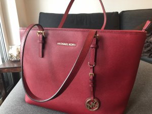 Michael Kors Shopper dark red leather