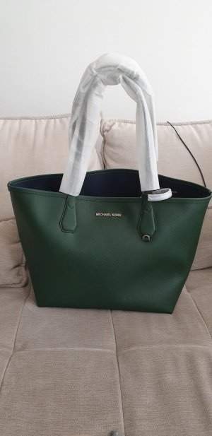 Michael Kors Shopper dark blue-forest green leather