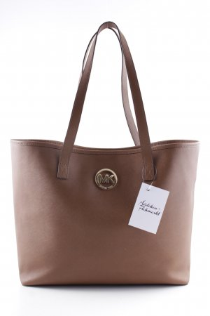 Michael Kors Shopper braun-cognac Monogram-Muster Business-Look
