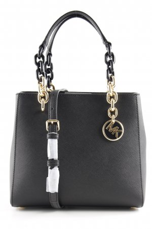 "Michael Kors Shopper ""Cynthia SM NS Convertible Satchel Bag Black"" noir"