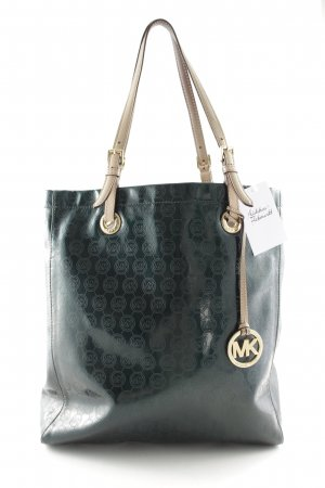 Michael Kors Shopper dark green-cream monogram pattern extravagant style