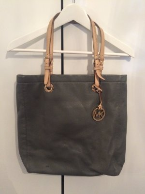 Michael Kors Carry Bag grey-gold-colored leather
