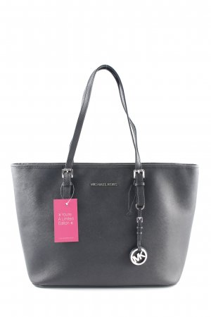 "Michael Kors Shopper ""Jet Set Travel TZ Tote Silver Black"" noir"