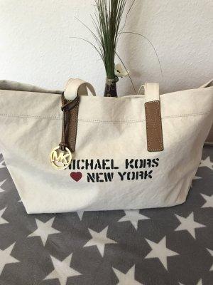Michael Kors Shopper Leder aus Stoff mit Leder  New York  Schriftzug neu 149€