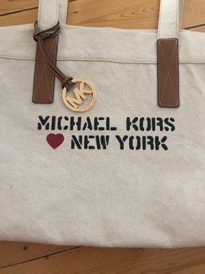 Michael Kors Borsa shopper crema-beige chiaro Lino