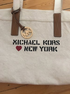 Michael Kors Shopper Leder mit Leinen New York  Schriftzug 149€