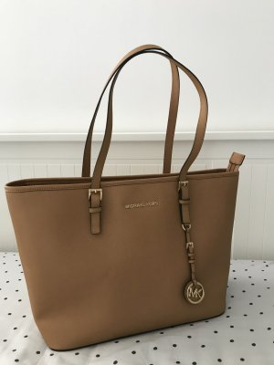 Michael Kors Shopper bronze cuir