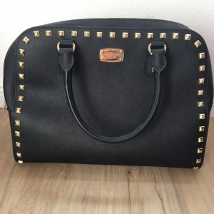 Michael Kors Shopper Nieten Gold Schwarz