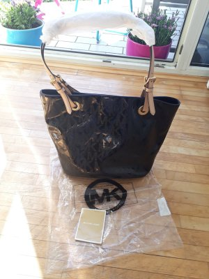 Michael Kors Shopper Schwarz Gold Original