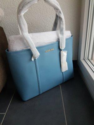 Michael Kors Shopper Tasche Sady Sky blue blau hellblau gold
