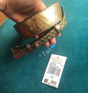 Michael Kors Shoulder Guitar Strap SchulterGurt für HandTaschen Gold Embossed