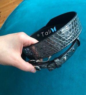 Michael Kors Shoulder Guitar Strap SchulterGurt für HandTaschen Silber Embossed Gunmetal