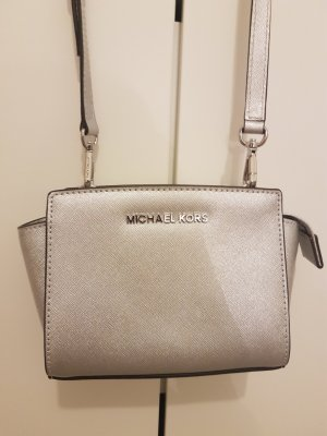 Michael Kors Pochette silver-colored leather