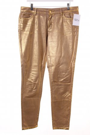Michael Kors Skinny Jeans gold-colored-beige wet-look