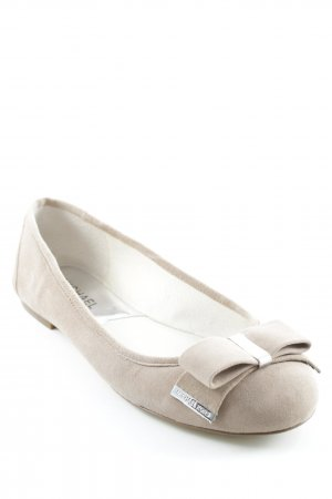 Michael Kors Slingback Ballerinas camel-silver-colored casual look