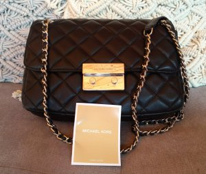 Michael Kors Sloan Large Chain Shoulder Bag Black