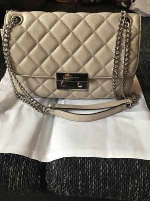 Michael Kors Sloan LG Chain Shoulder Bag Leather Cement