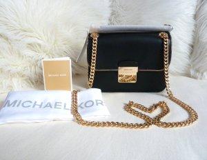 Michael Kors Crossbody bag black-gold-colored leather