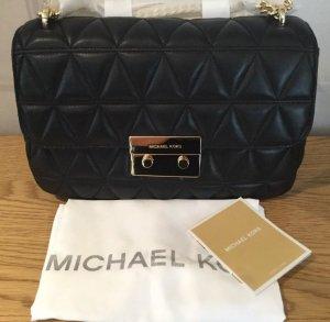 Michael Kors Sloan ( XL ) Chain Shoulder Bag Black